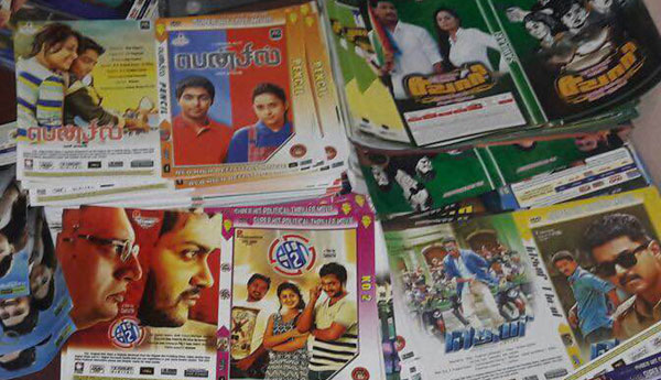 One Lakh Pirated DVDs Seized