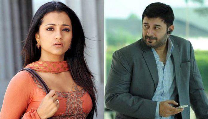 Trisha and Arvind Swamy in the sequel of Sathuranka Vettai
