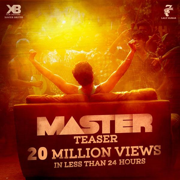 Vijay Master teaser Records