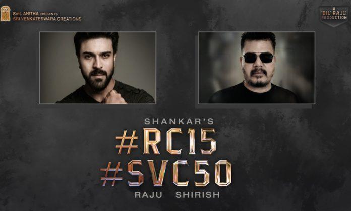 Shankar is directing Ram Charan, announced officially