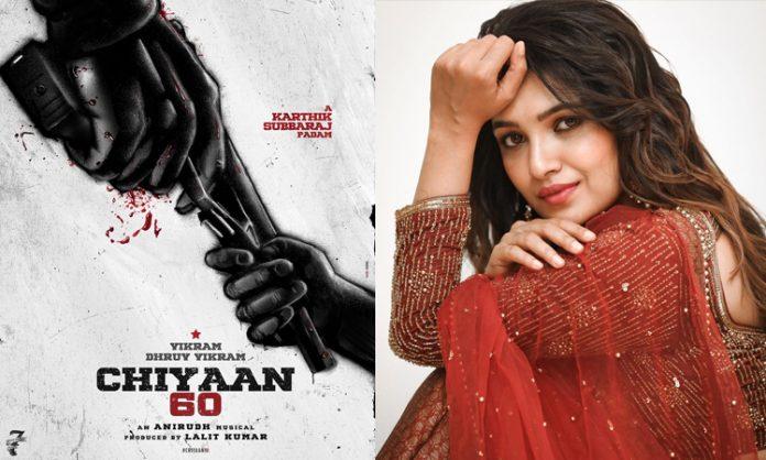 Vani Bhojan with Vikram and Dhruv Vikram in 'Chiyaan 60'
